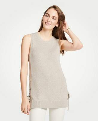 Ann Taylor Petite Side Tie Sleeveless Sweater Tunic