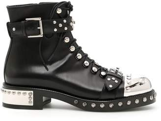 Alexander McQueen Studded Leather Booties