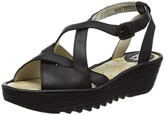 Fly London Women RAND728FLY Wedge Sandals,38 EU