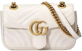 Gucci white GG Marmont matelassé mini bag