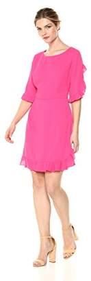 Cooper & Ella Women's Three Quarter Sleeve Milou Ruffle Dress