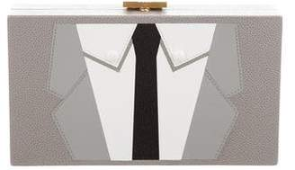Thom Browne Suit Box Clutch