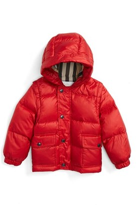 Toddler Boy's Burberry 'Barnie' Down Puffer Coat $365 thestylecure.com