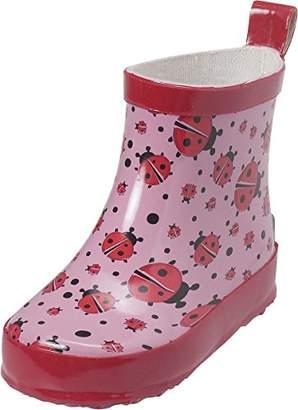 Playshoes Girls' Marienkäfer Nieder Wellington Boots,8.5UK Child