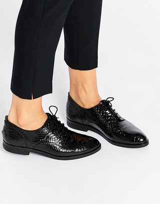 Bronx Snake Effect Leather Masculine Shoes $57 thestylecure.com