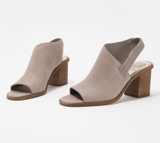 Vince Camuto Leather Peep-Toe Heeled Sandals - Kaisly
