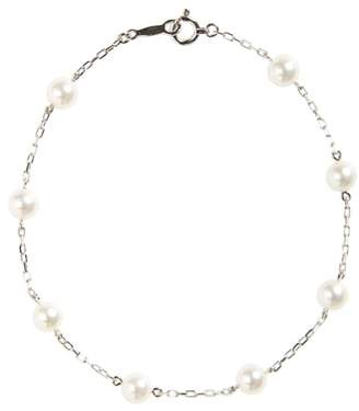 Mikimoto Akoya Cultured Pearl & Chain Bracelet