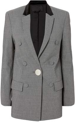 Alexander Wang Leather Sleeve Houndstooth Blazer