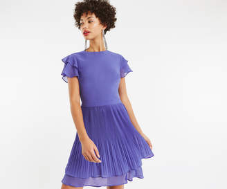 Oasis CHIFFON PLEATED SKATER DRESS