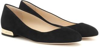 Jimmy Choo Jessie suede ballet slippers