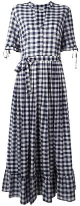 Twin-Set checked maxi dress $192.19 thestylecure.com