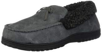 2e03851c999 HomeIdeas Men s Faux Fur Lined Suede House Slippers