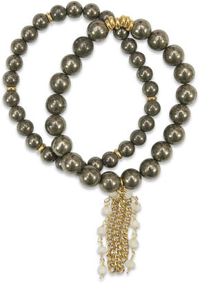 Electric Picks Pyrite Shimmer Bracelets (Set of 2)