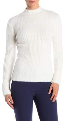 Catherine Malandrino Long Sleeve Fuzzy Knit Sweater