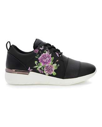 Bourne Floral Print Leisure Shoes EEE Fit