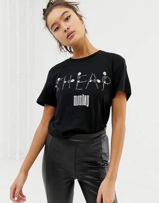 Cheap Monday organic cotton t-shirt with skeleton logo