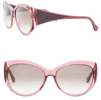 Balenciaga 58mm Plastic Sunglasses