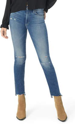 Joe's Jeans The Milla High Waist Chewed Hem Straight Leg Jeans