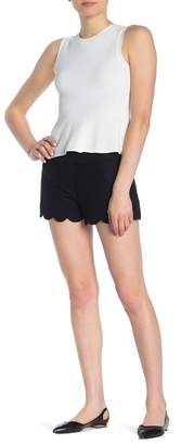 J.Crew J. Crew Solid Scalloped Linen Blend Shorts
