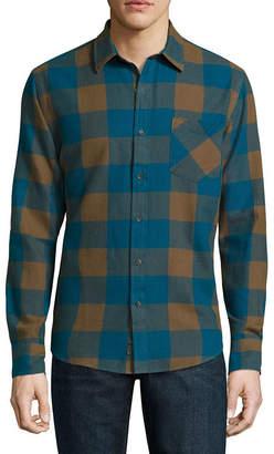 Arizona Mens V Neck Long Sleeve Flannel Shirt