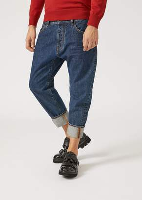 Emporio Armani J04 Loose-Fit Cotton Denim Jeans
