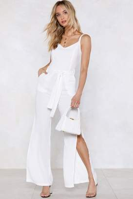 Nasty Gal Time to Split Linen Jumpsuit