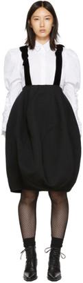 Comme des Garcons Black Bubble Suspender Skirt