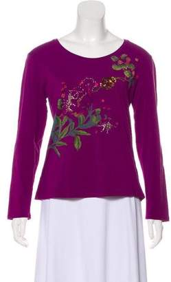 Anna Sui Embellished Long Sleeve T-Shirt