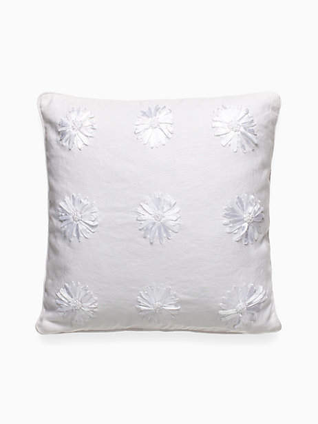 Ribbon Blossom Decorative Pillow