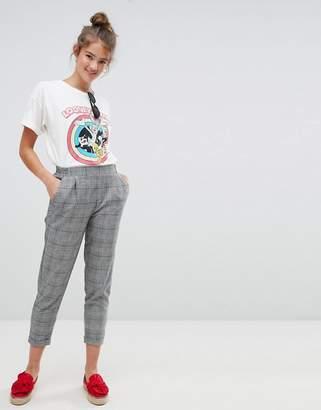 Pull&Bear check print peg leg pants