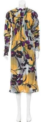 Marni Floral Print Midi Dress w/ Tags