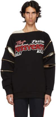 Gucci Black Faster, Pussy Cat Kill Kill Sweatshirt