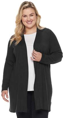 Dana Buchman Plus Size Ribbed Duster Cardigan