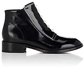 Opening Ceremony WOMEN'S RYDER SPAZZOLATO LEATHER ANKLE BOOTS - BLACK SIZE 5