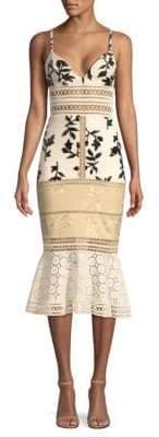 PatBO Panama Embellished Midi Dress