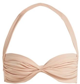 Norma Kamali Bill Ruched Bikini Top - Womens - Light Pink