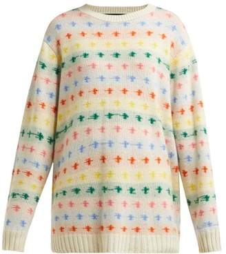 The Elder Statesman Fireside Cashmere Sweater - Womens - White Multi