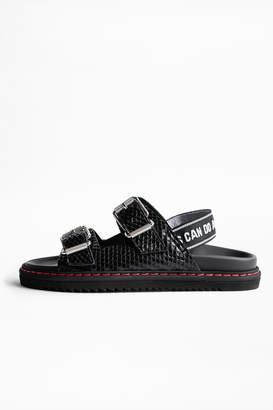Zadig & Voltaire Alpha Grunge Sandals
