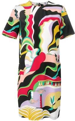 Emilio Pucci La Villa Print Silk Mini Dress