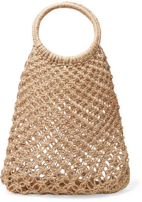 Elizabeth and James Alfonso Macramé Tote - Sand