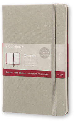 Moleskine NEW Two-Go Medium Canvas Ash Grey Notebook