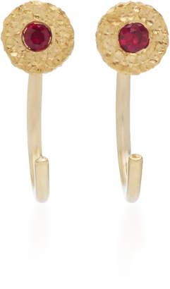 Octavia Elizabeth Ruby Nesting Gem 18K Gold Ruby Earrings