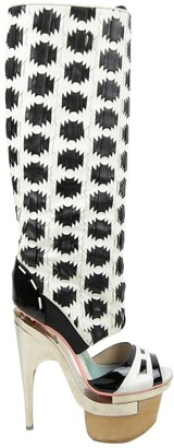 Versace White Leather Boots