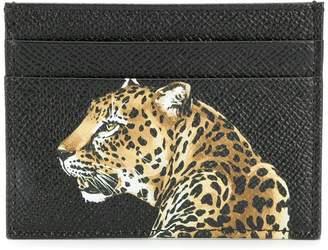 Dolce & Gabbana leopard print cardholder
