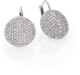 Phillips House Affair Diamond& 14K White Gold Infinity Leverback Earrings