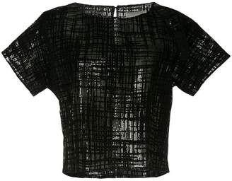 Ingie Paris sequin-embellished top
