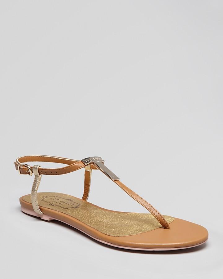 Ted Baker Logo Flat Thong Sandals - Reveera