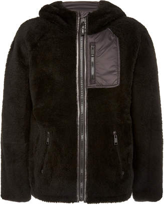 Yves Salomon Paris Curly Merinos Lamb Hooded Jacket
