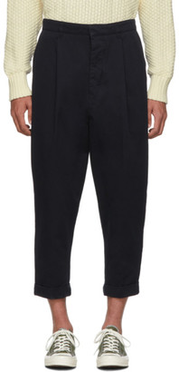 Ami Alexandre Mattiussi Navy Oversized Carrot Fit Trousers