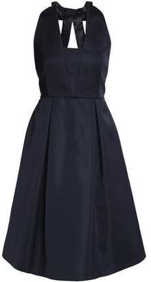 Claudie Pierlot Roze Bow-Embellished Cutout Satin Dress